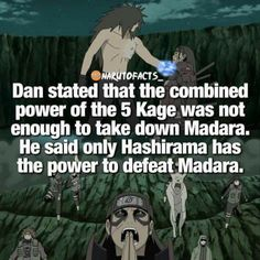 The 5 kages had no chance against Madara Uchiha, the God of Shinobi. He's too damn powerful. ♠