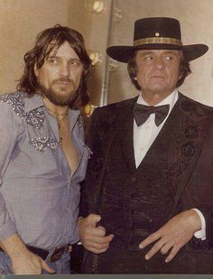 Waylon Jennings & Johnny Cash - - For more western inspirations, visit www.broncobills.co.uk