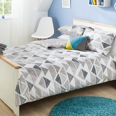 George Home Trace Geo Triangle Duvet Set | Duvet Covers | ASDA direct