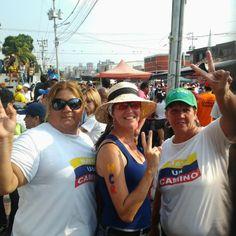 Cristina, Carmiña y yo