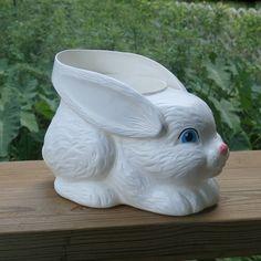 Sweet White Rabbit Easter Basket Bucket Empire Plastics