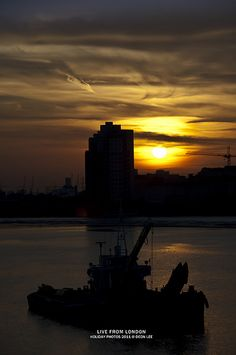 Sunset in Woolwich, London