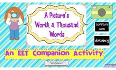 A Pictures Worth A 1,000 Words - EET Companion Descriptive Language Task from SLPrunner on TeachersNotebook.com -  (15 pages)  - This descriptive language activity may stand alone or is a great companion when used with the incredible Expanding Expression Tool. A Picture's Worth a Thousand Words is jam-packed with colorful images and aligns with common core in the areas of Lang