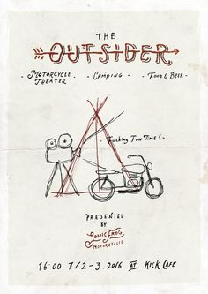 Commission work for The Outsider by Sonic Frog. Sonic Frog is a group formed by several friends who share the same passion of motorcycle life style. They're holding a motorcycle theater and camping event in July. I'm glad to do the graphic &...