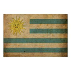 Vintage Uruguay Flag Poster