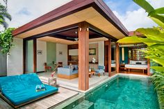 Check out this deal at Luxury Escapes: Private Pool Villa Serenity with Daily Massages and Cocktails Small Backyard Design, Small Backyard Pools, Backyard Pool Designs, Small Pools, Swimming Pools Backyard, Backyard Ideas, Luxury Swimming Pools, Luxury Pools, Luxury Escapes