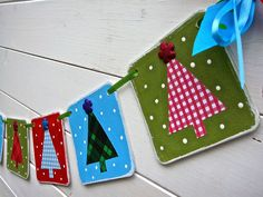 Christmas Banner, Tree Banner, Modern, Mantle decoration, Christmas Photo Prop, Christmas Bunting, Christmas Garland. $23.00, via Etsy.