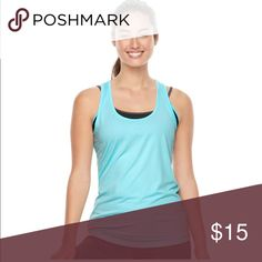Gaiam bliss yoga racerback top All-day comfort is yours with this women's Gaiam yoga tank top. PRODUCT FEATURES •Perfect for low-impact exercise such as yoga •Soft-touch performance fabric •Racerback with keyhole detail •Mesh-back panel provides ventilation •Moisture-wicking technology keeps you dry •Scoopneck  •Tag free FABRIC & CARE •Polyester, spandex •Machine wash •Imported gaiam Tops Tank Tops