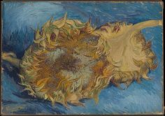 Van Gogh painted four still lifes of sunflowers in Paris in late summer 1887. There is an oil sketch for this picture (Van Gogh Museum, Amsterdam) as well as another painting of two sunflowers also signed and dated 1887 (Kunstmuseum Bern), and a larger canvas showing four sunflower heads (Kröller-Müller Museum, Otterlo)