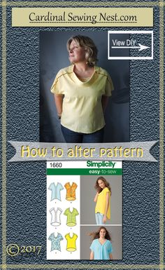 How to raise the neckline of Simplicity 1660 sewing pattern