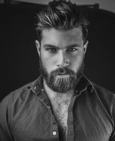 If you think your beard is part of your personality, then you must try this best Men Short Beard and Mustache style model from the gallery picture that we already collect from internet Beard And Mustache Styles, Beard No Mustache, Hair And Beard Styles, Great Beards, Awesome Beards, Hairy Men, Bearded Men, Bart Styles, Hair And Beauty