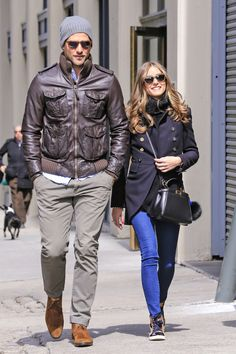Olivia Palermo and Johannes Huebl in Brooklyn, March 24, 2013