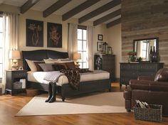 Aspenhome Ravenwood Queen Sleigh Bed with Panel Headboard and Footboard - Conlin's Furniture - Headboard & Footboard