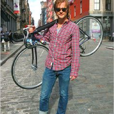 NYC cycling fashion From: New York Times