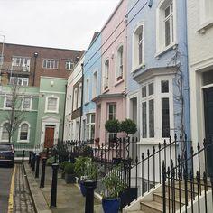 #London #street #colour #house