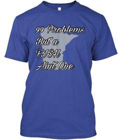 Fish Ain't One Deep Royal T-Shirt Front