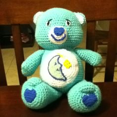 Crocheted Bedtime Care Bear!