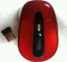 New 2.4G Wireless Mouse Red + Receiver