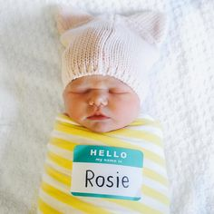 10 beautiful photo ideas for baby's first day