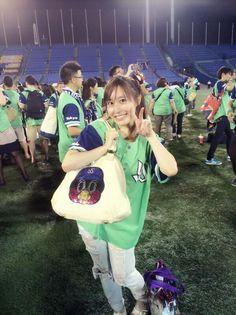 Rei in Jingu Baseball Studium Ground.