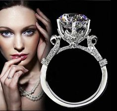 Victoria Wieck 925 Sterling Stamped Silver Eternity Handmade 2ct Simulated diamond Cz