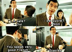 Funny Pictures, Memes, Humor & Your Daily Dose of Laughter How To Speak French, Learn French, Mr Bean Drôle, Funny Images, Funny Pictures, Funny Pics, Hilarious Photos, Moving Pictures, Funny Videos
