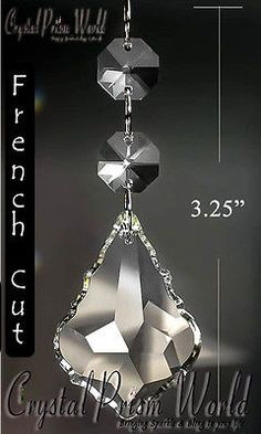 Charms 134299 10 replacement chandelier crystals and hanging charms 134299 25 french cut chandelier crystals glass and hanging wedding prisms 325in mozeypictures Gallery
