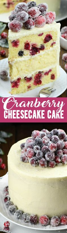 Advertisement White Chocolate Cranberry Cheesecake Cake is the show-stopping dessert you've been looking for – just in time for the holidays! This cranberry cake deserves [. Cranberry Cheesecake, Cranberry Dessert, White Chocolate Cheesecake, Cheesecake Cake, Cranberry Recipes, Chocolate Desserts, Cheesecake Recipes, Dessert Recipes, Chocolate Frosting