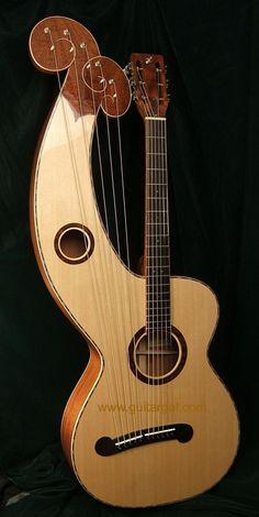 Hewett Harp Guitar acoustic