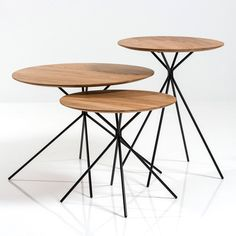 Debut collection by Herman Cph includes oak tables with spindly steel legs