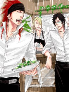 Bleach boys: Renji, Kira and Hisagi