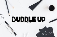 Bubble Up is an all-caps slab serif font with bold bubbly characters. Great for a variety of creative projects!