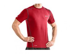 Look Good While Working Out - Under Armour HeatGear Sonic Printed Fitted Short Sleeve