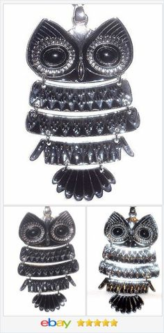 large Owl Pendant fully articulated With Chain 24 in Stainless Steel  50% OFF #ebay #christmasinjuly http://stores.ebay.com/JEWELRY-AND-GIFTS-BY-ALICE-AND-ANN