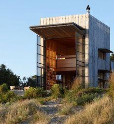 The Flying Tortoise: Tiny Movable New Zealand Beach House On Sleds...