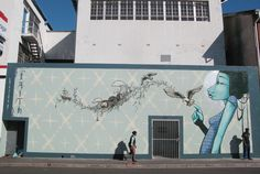 Street art by South African artist Graffiti Murals, Street Art Graffiti, Soho, Stencil, Reverse Graffiti, Street Art Love, Jungle Art, South African Artists, Visionary Art