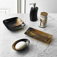 5Piece Bath Accessory Set by Kassatex Sierra Natural Horn Bath Accessories  Buffalo Horn * Read more reviews of the product by visiting the link on the image.