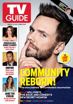 March 9/March 16, 2015. Joel McHale of Community