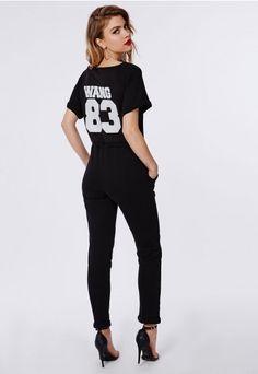 Jersey Slub Motif Jumpsuit Black - Jumpsuits - Black Jumpsuits - Missguided