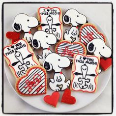 Snoopy Love! Snoopy Cookies for Valentine's Day