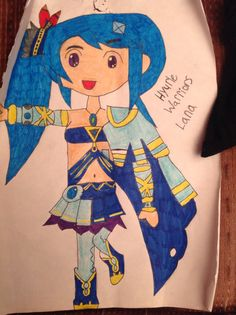 Here is a free handed Lana from Hyrule Warriors!