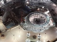 Top view, Kaabaa, House of Allah for worship of Muslims in MaKKa Mokarrama, Saudi Arabia. Masjid Haram, Mecca Madinah, Salat Prayer, Mecca Wallpaper, Mekkah, Beautiful Places In The World, Arabian Nights, Dream Big, Saudi Arabia