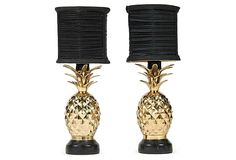 Brass Pineapple Bedside Lamps, Pair on OneKingsLane.com