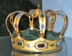 """Emperor Napoleon's Crown of Italy   This """"excuse"""" for a crown, was made for Napoleon's coronation, as King of Italy."""