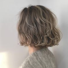 Arrange power, cuteness up! Bob's curly hair center arrangement 1 week to learn from a hairdresser-LOCARI (Lokari) Permed Hairstyles, Short Hairstyles For Women, Pretty Hairstyles, Shot Hair Styles, Curly Hair Styles, Natural Hair Styles, Hair Arrange, Hair Color Purple, Looks Chic