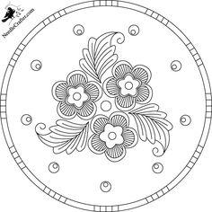flourish pattern coloring page mandala