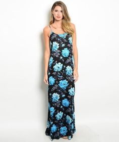 Shop the Trends Black Floral V-Neck Dress Vestido Maxi Floral, Blue Floral Maxi Dress, Maxis, Summer Outfits, Summer Dresses, V Neck Dress, Online Boutiques, Boho Chic, Ideias Fashion