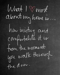 What I love most about my home is.....