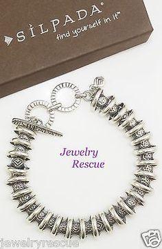 Silpada-Arrowhead-Logo-Bracelet-925-Sterling-Silver-B2091-Fits-7-to-8-wrist