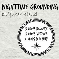 Diffuser Blend: Holiday parties and seasonal stresses galore... take a moment to ground yourself this evening with this diffuser blend... Balance: Promotes whole-body relaxation Vetiver: Calming, grounding effect Serenity: Promotes relaxation and restful sleep www.mydoterra.com/maryczarnecki